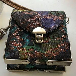 VTG SEQUINED CROSSBODY BOX BAG